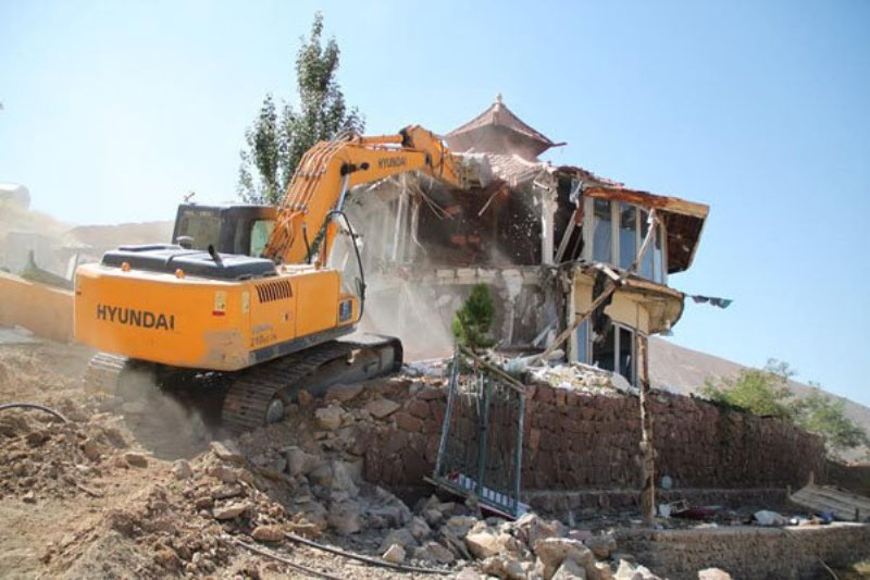 تخریب خانه باغ