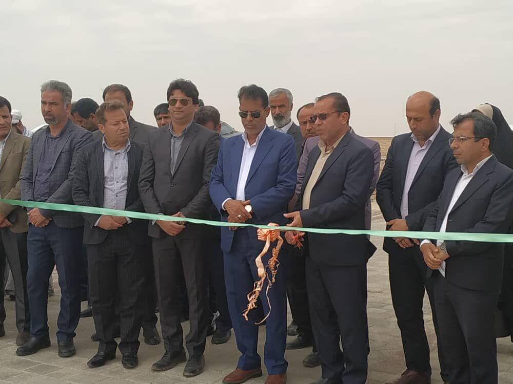 افتتاح معابر روستایی بخش کاکی