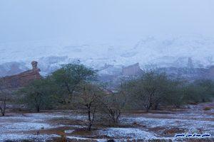 بارش برف در دشتی - بوشهر